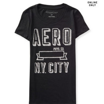 Camiseta Aeropostale Hollister Fem Ny City Tam M Original