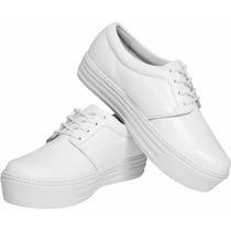 Sapato Branco Feminino Enfermagem Couro 100% Impermeável