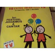 Disco De Acetato De 1er Festival Juguemos A Cantar 15 Exitos
