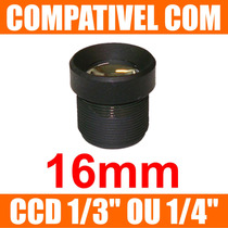 Mini Lente 16mm P/ Mini Camera E Micro Camera - Lente Cftv