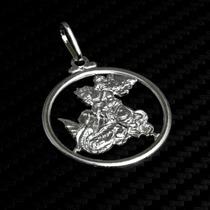 Pingente Medalha São Jorge De Prata 925 Com Certificado