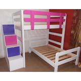 Camarote En L Con Escalera Con Cajones 3 Colores
