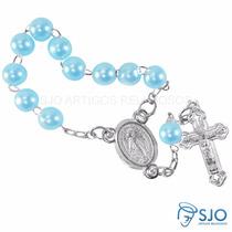 500 Mini Terços Para Lembrancinhas | Cor: Azul