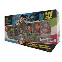 Teen Titans/ Jovens Titãs (6 Personagens) Novo. Ja No Brasil