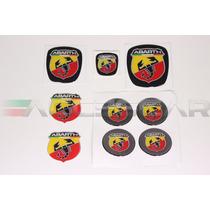 Kit Nº6 Adesivos Abarth P/ Fiat Bravo