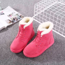 Botas Pink Fashion Invierno Fur Lined Warm Thicken Mujer