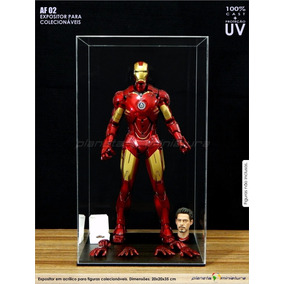 Expositor Case Acrílico Action Figur Iron Hot Toys Side Af02