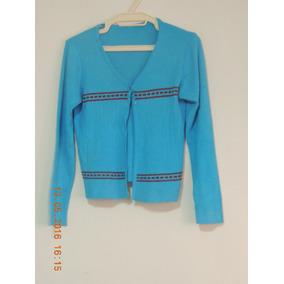 Lindo Sweter Usado Para Dama, Tejido, Color Azul.