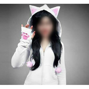 Campera Hoddie Sweater Gato Neko Cat (tienda Online) Te054