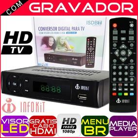Conversor Digital Infokit Itv-200 Com Visor Led Hdmi E Usb