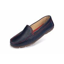 Zapato Mocasín Mega Para Dama 1981 Azul