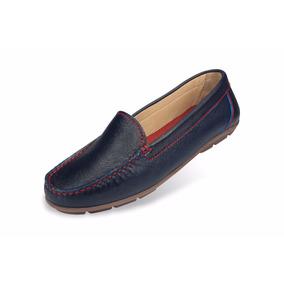 Zapato Mocasín Mega Para Dama 1681 Azul