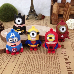 Pendrive Minions Super Heróis Presente Festa Infantil Ref111