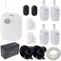 Kit Alarme Monitorado Intelbras Central 8 Zonas Amt 2008rf