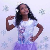 Vestido Casual Con Tutu Frozen