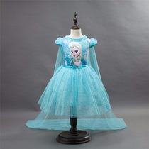 Vestido Fantasia Infantil Filme Frozen Elsa Tutu Lançamento
