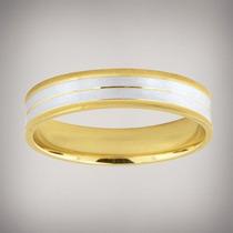 Par Argollas Oro Combinadas 14k Anillos Matrimoniales Boda