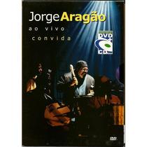 Dvd + Cd Jorge Aragão - Ao Vivo Convida (seminovo)