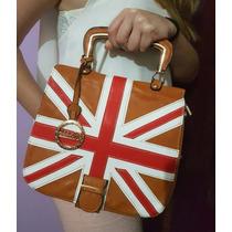 Bolsa De Mão Em Couro Bandeira Inglaterra