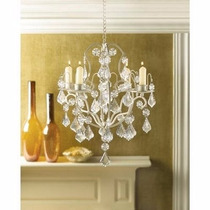 Candelabro Ivory Baroque Candle Chandelier, Iron And Acrylic