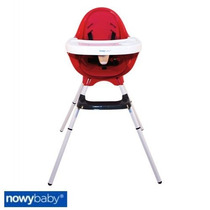 Silla De Comer Bebe Nowy Baby Altura Regulable Color Rojo