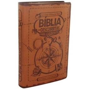 Bíblia Das Descobertas Para Adolescentes Marrom Luxo Ntlh