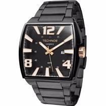 Relógio Technos Quadrado Grande Preto Legacy 2315abf/1p