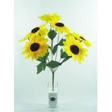 Buquê De Girassol C/ 9 Flores Artificiais Artificial Grande