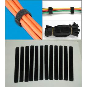 Amarra Para Cable Utp 6 Cintas Velcro Organizador Redes