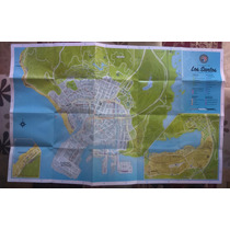 Mapa Gta V - Los Santos - Original - Impecável
