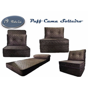 Puff Cama Dobrável - 3 Em 1 Colchão X Puff X Sofá (promoção)