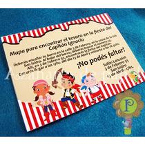 Jake Y Los Piratas Invitaciones Tarjetas Cumpleaños