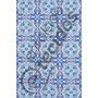 Tecido Jacquard Estampado Azulejo Português Azul 3m X 1,40m