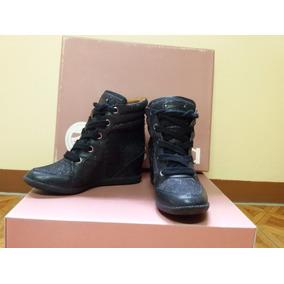 Tênis Esdra Sneaker Gliter Preto - Tenis - Calçado Femenino