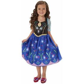 Disfraz Ana Frozen Musical Con Luces 4t, Zapatos Y Corona