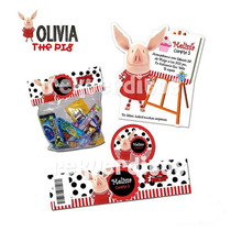 Kit Imprimible Olivia La Chanchita Diseñá Tarjetas Y Mas