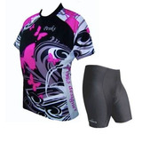 Kit Conjunto Ciclista Feminino Bermuda + Camisa P-m-g-gg