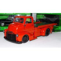 1:24 Chevrolet Coe 1952 Rojo Grua Plataforma Jada Display
