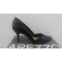Sapato Scarpin Feminino Arezzo Salto Médio Fino Preto