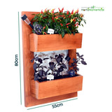 Horta Vertical - Jardim Vertical Em Apartamento - 2 Vasos