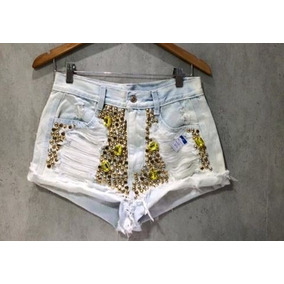Shorts Jeans Customizados 10 Peças Atacado