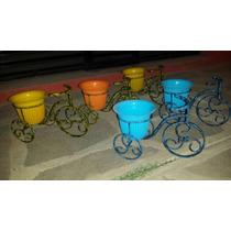 Macetero De Bicicleta Herrería Artística