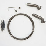 Kit Completo Barral Cortina Tensor Cable De Acero Inox 5 Mts
