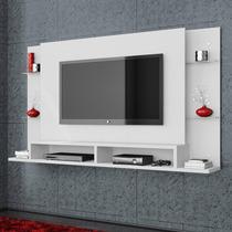 Painel Para Tv Com Bancada Malbec Belaflex Branco Artico