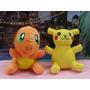 Peluches Bordados (pikachu Y Charmander) Mas Regalo Gratis