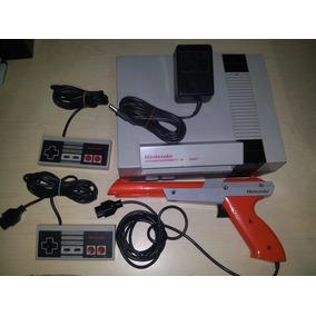 Nes Con 14 Juegos Y Cargador, Controles Y Zapper Originales