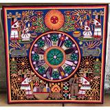 Arte Huichol, Manualidad Cuadro En Hilo. Único.