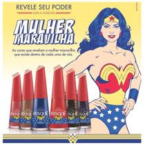 Coleção De 6 Esmaltes Risque Mulher Maravilha Lançamento