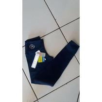Legging Feminina Rola Moça Tecido Supplex Azul Marinho