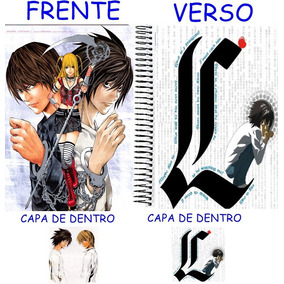 Caderno Do Death Note 10 Materias - 200 Folhas Mod 13